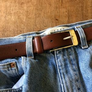 Cole Hann Leather with silver vintage buckle worn